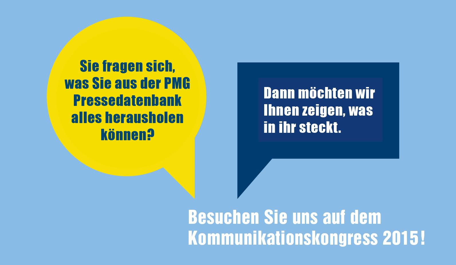 PMG auf dem Kommunikationskongress 2015