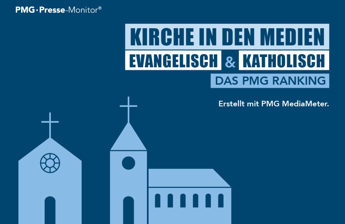 PMG Ranking: Kirche in den Medien - evangelisch vs. katholisch