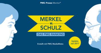 PMG Ranking: Angela Merkel versus Martin Schulz - Juli 2017