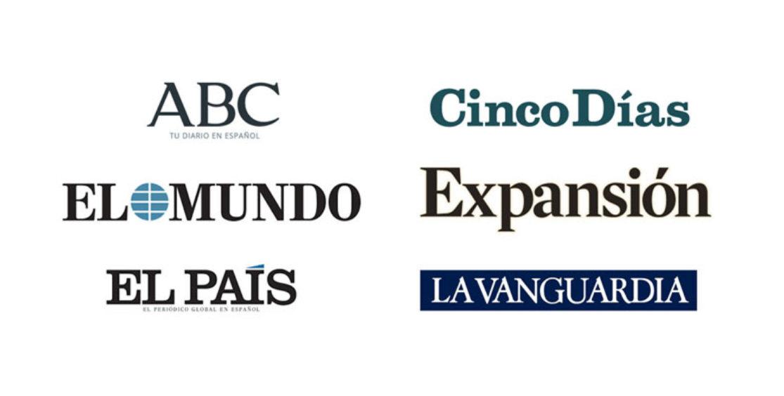 El País, El Mundo, Cinco Días, Expansión, La Vanguardia und ABC - spanische Titel