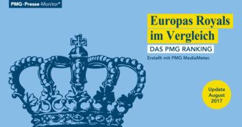 PMG Ranking: Europas Royals | Könige und Königinnen in den Medien - August 2017