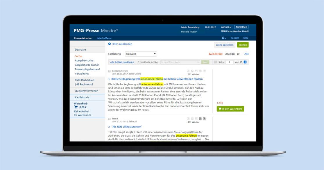 Pressespiegel erstellen mit der PMG - Produktbild