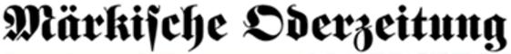 Märkische Oderzeitung Logo