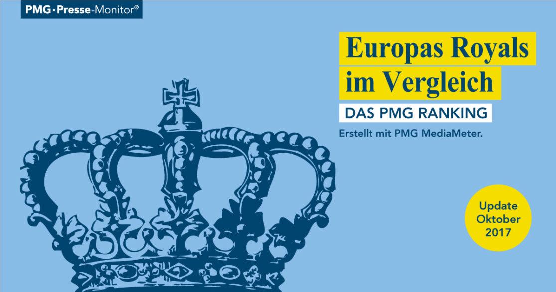 PMG Ranking: Europas Royals | Könige und Königinnen in den Medien - Oktober 2017