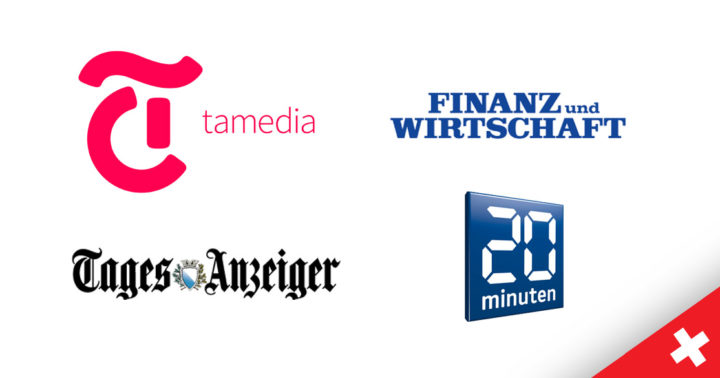 Neue schweizerische Medien / Quellen in der PMG Pressedatenbank: Tamedia, 20Minuten, Tagesanzeiger