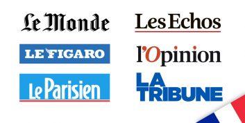 neue französische Medien / Quellen verfügbar: Le Monde, Les Echos, Le Figaro, L'opinion, la Tribune, le Parisien