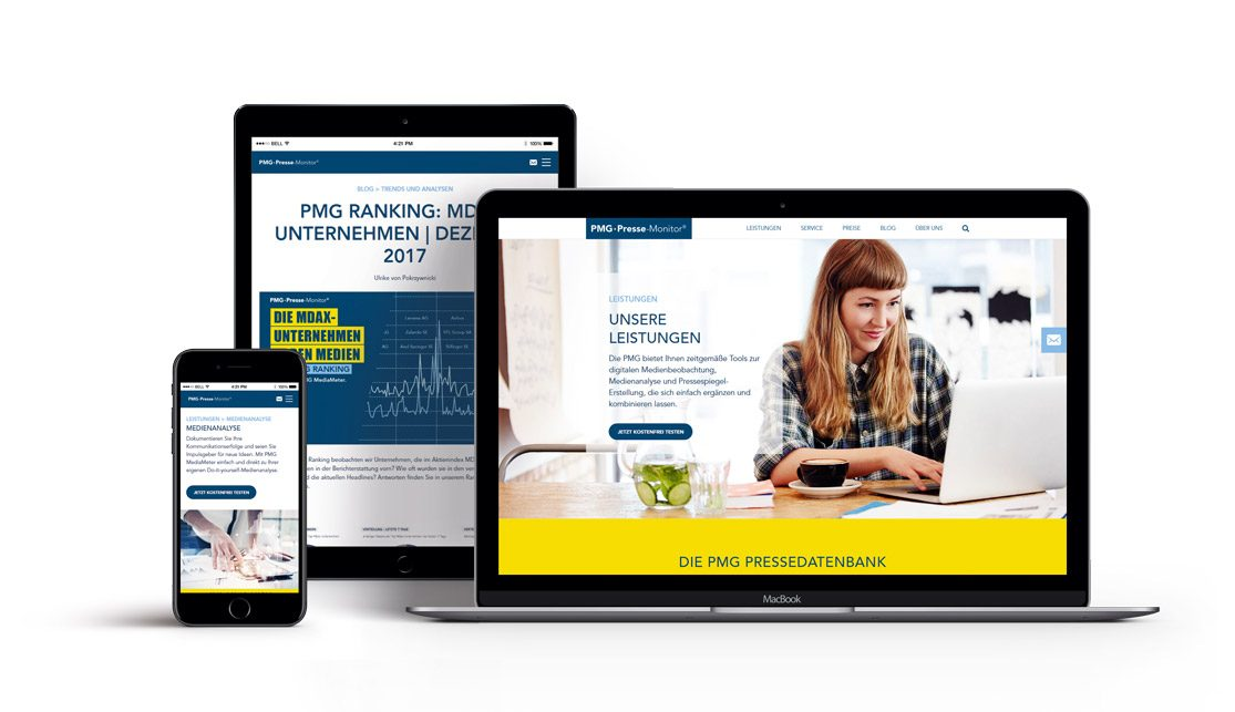 PMG Website Relaunch - neue Website