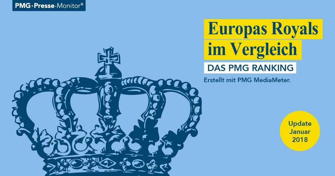 PMG Ranking: Europas Royals | Könige und Königinnen in den Medien - Januar 2018