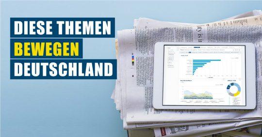 Themenrennen: Diese gesellschaftlich relevanten Themen bewegen Deutschland