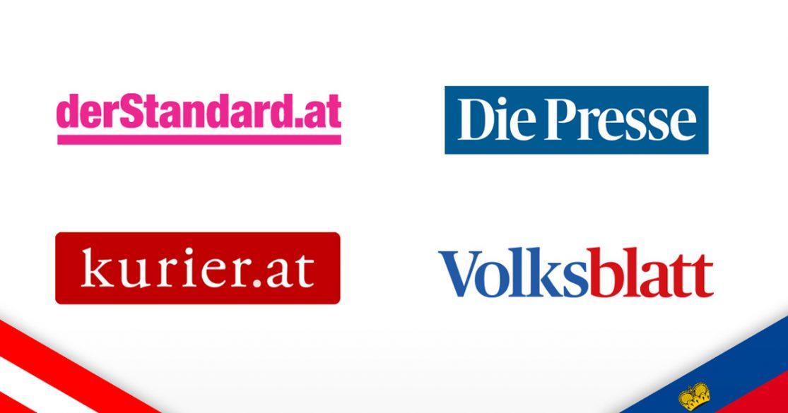 Neue Online-Medien aus Österreich und Liechtenstein: der Standard, Die Presse, Kurier.at, Volksblatt