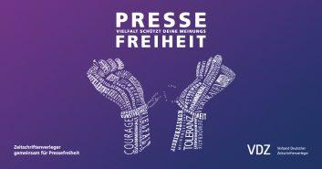 VDZ Kampagne für Pressefreiheit 2018 Handschellen