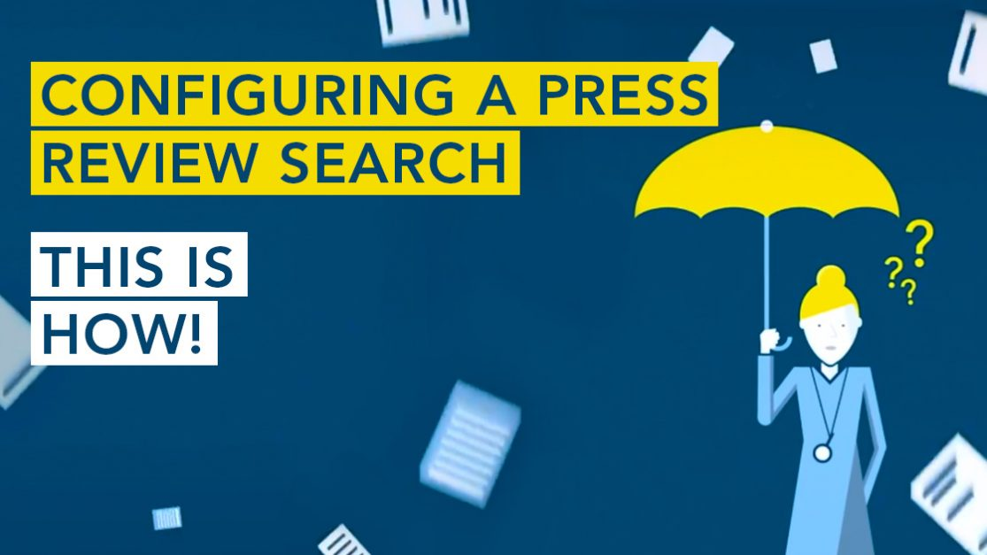 Tutorial: configure a press review search