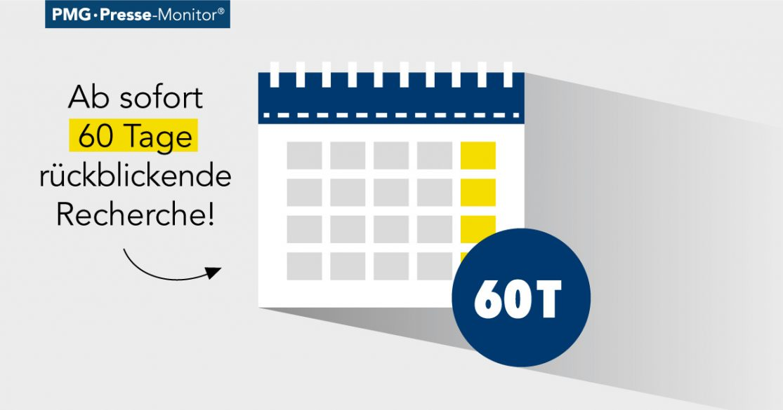 PMG Pressedatenbank: 60 Tage Rückschau
