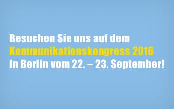 PMG Presse-Monitor auf dem Kommunikationskongress 2016