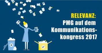 PMG auf dem Kommunikationskongress 2017 - Thema Relevanz
