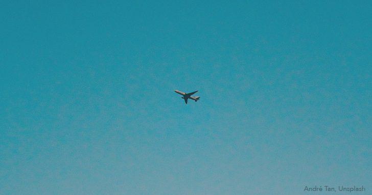 Flugscham - Flugzeug am Himmel
