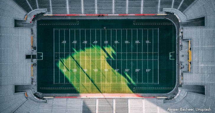 American Football Feld - Super Bowl