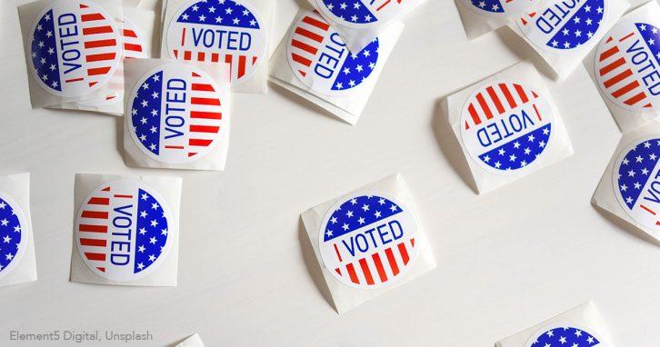 Sticker für Wahlen in den USA