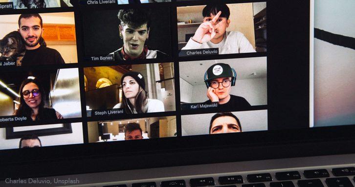 Digitalisierung durch Corona - Zoom-Konferenz von Schülern