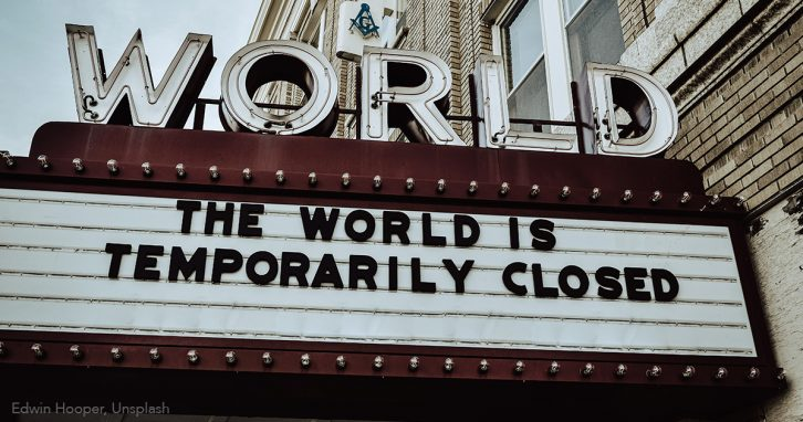 Filme in den Medien. Geschlossenes Kino während Corona